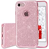 Milprox Thin 3 Layer Hybrid TPU Bling Glitter Case for Apple iPhone 7 - Rose Gold