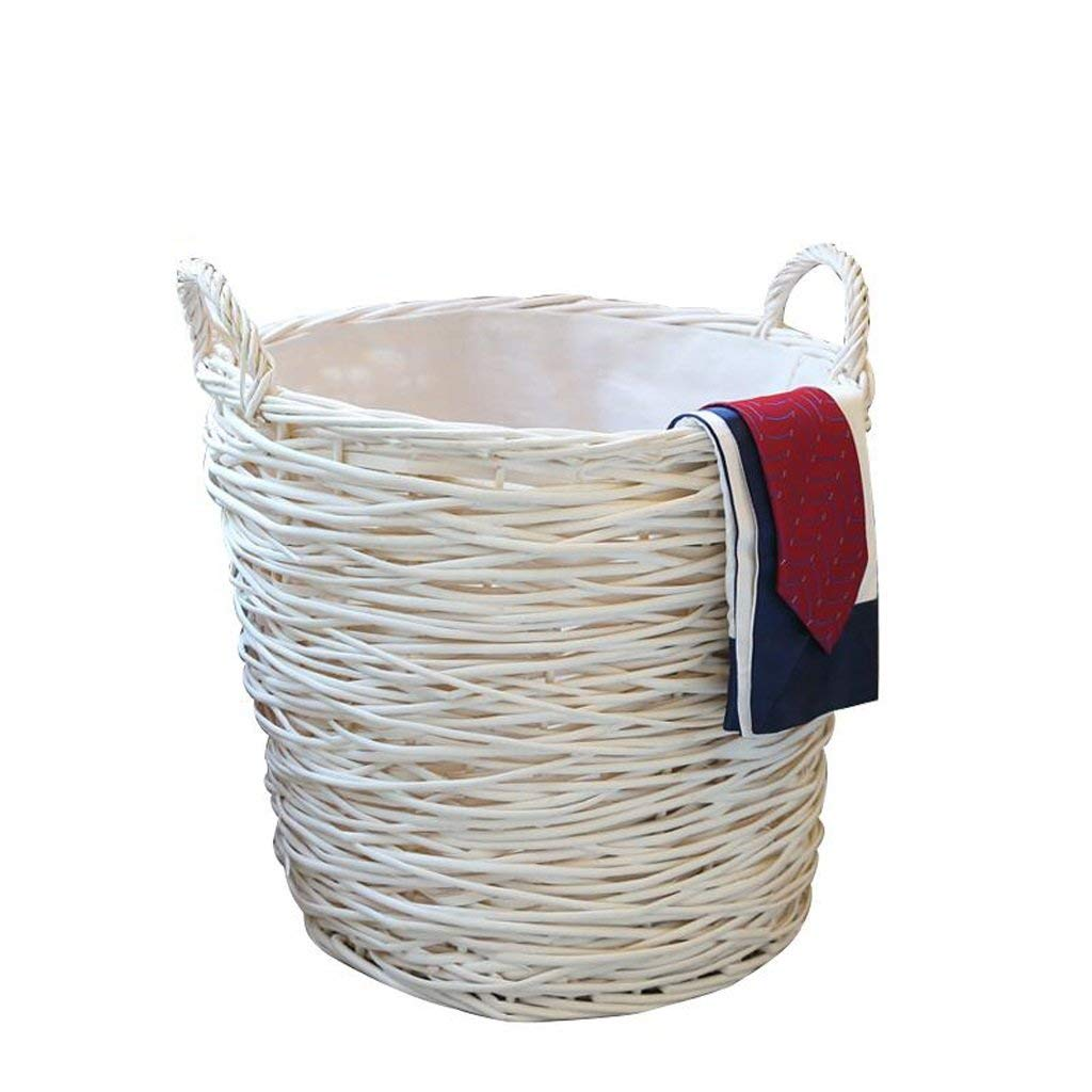 Kinue Home DecorAddition Diaper Toy Hamper White Rattan Dirty Basket Dirty Clothes Basket Dirty Clothes Storage Basket Laundry Basket Accept The Basket Storage Rollsnownow