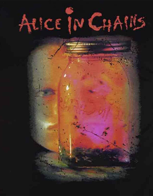 G/én/érique Alice in Chains T Shirt Jar of Flies Band Logo Nouveau Officiel Homme