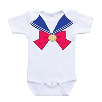Amazon Com Sailor Moon Venus Crest Ribbon Baby Bodysuit Anime