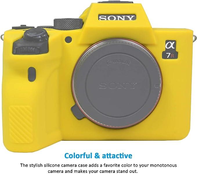 Easy Hood Schutzhülle Für Sony Alpha 7r Iv A7r Iv A7riv A7rm4 Ilce 7rm4 Digitalkamera Kratzfest Weiches Silikongummi Schutzhülle Gelb Elektronik