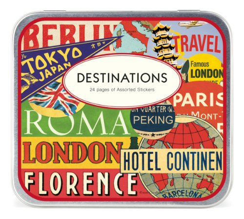 Cavallini Decorative Stickers Destinations, Assorted