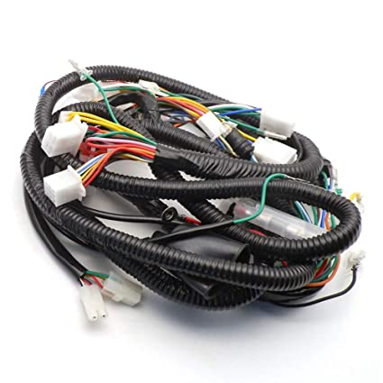 amazon com: sala-ctr - chinese gy6 150cc wire harness wiring assembly scooter  moped for 11 pole /8 pole magneto: automotive