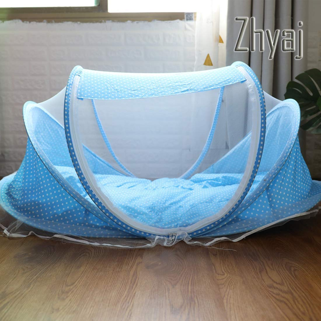 B Zhyaj Outdoor Dog Kennel, Cat Nest Foldable Portable Travel Summer Isolation Insect Dog Tent Fully Enclosed Dog Bed Ventilation Breathable Dog House,A