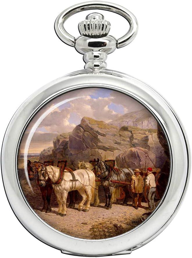 La Cantera (caballos en el trabajo) por arenque Full Hunter reloj de bolsillo