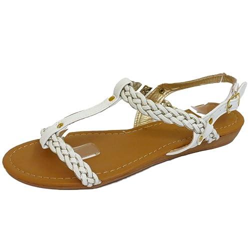 HeelzSoHigh Damen Taupe Zehensteg Blume Bequem Sandalen Flip Flop Schuhe Holiday Turnschuhe UK 3-8 - Taupe, 6 UK/39 EU