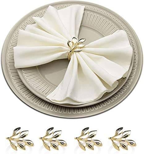 Rustic Decor. Leaf rustic napkin rings Set of 4 napkin rings