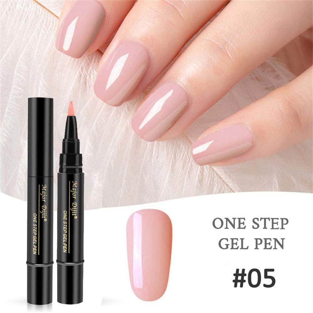 Amazon.com : Mlide One Step Gel Nail Polish Pen, No Base Top Coat ...