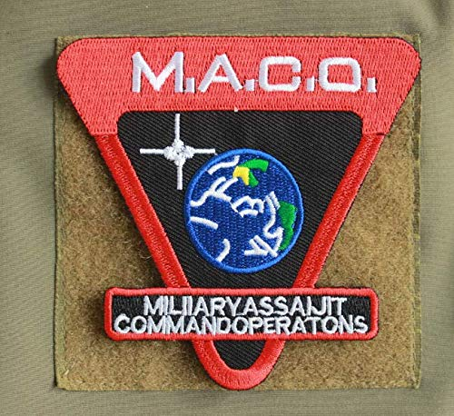 Star Trek Enterprise MACO Military Patch Fabric Embroidered Badges Patch Tactical Stickers for Clothes with Hook & Loop]()
