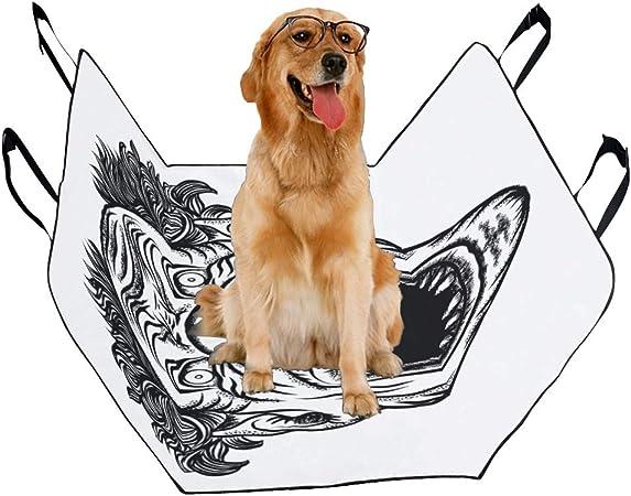 Amazon Com Vnaskl Dog Seat Cover Custom Scary Cartoon Clown