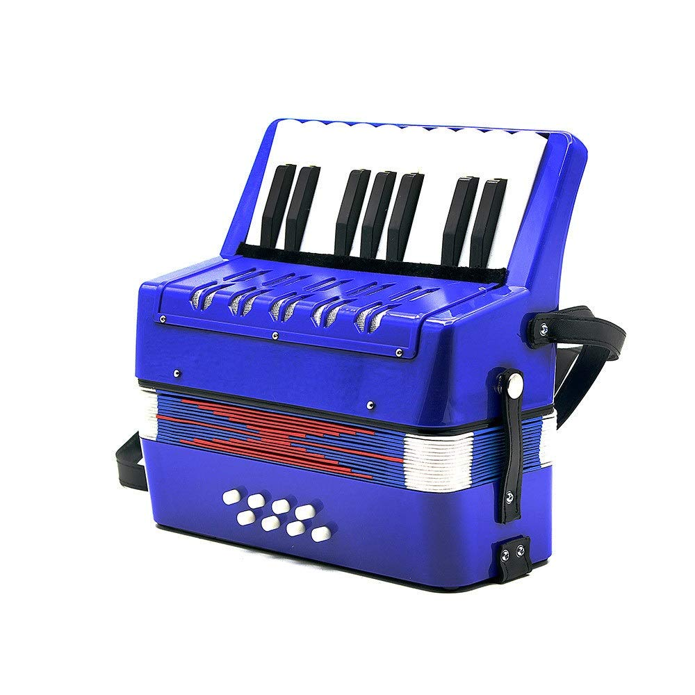 Accordion Lightweight Small Size Children's Toy Accordion Kids Piano Accordion 17 Keys 8 Bass with Straps Music Instruments for Beginners Students Educational Instrument Band Toy Children's Gift by Ybriefbag-Musical Instruments (Image #2)