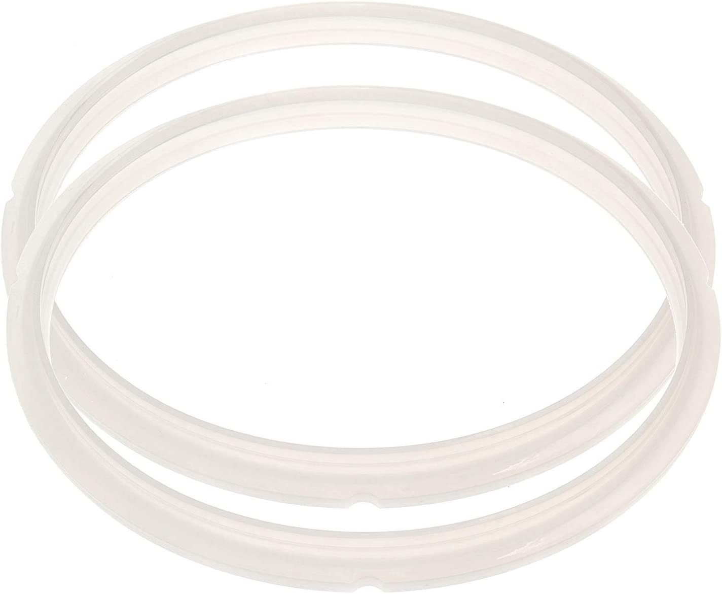 Silicone Sealing Ring, Riccioofy Power Pressure Cooker Rubber Gaskets for Many 5 Liter 6 Liter 5 Quart and 6 Quart Models, Set of 2 White