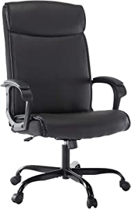SMUGDESK Office Chair PU Leather Ergonomic Desk Chair Adjustable Task Chair High-Back Executive Swivel Chair Computer Chair with Armrests Headrest and Lumbar Support