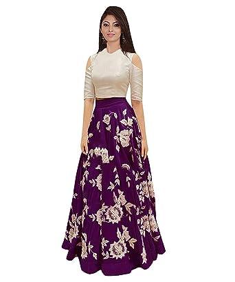 883df7ebd9 Saptarangi Women s Embroidered Bangalory Silk Semi-Stitiched Lehenga Choli