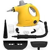 Limpiador de Vapor de Mano, Limpiador de Vapores Portátil de Usos Múltiples con 9 Accesorios para Quitar Manchas…
