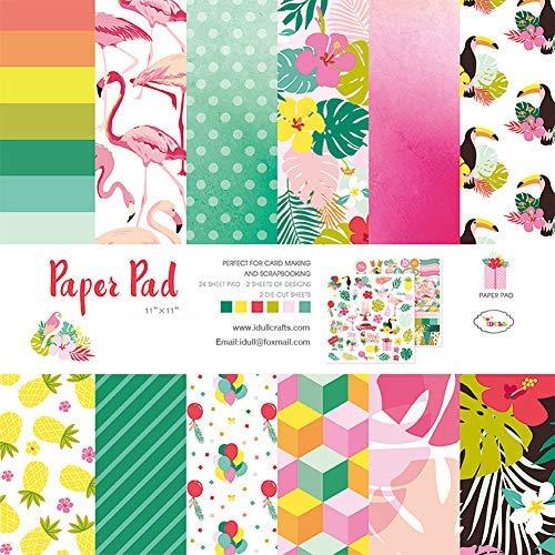 (IDULL Scrapbook Designer Paper Pad 11x11 Cardstock)