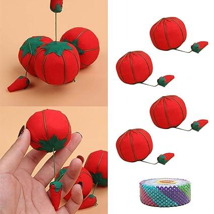 Amazon.com: 4 piezas lindo Tomate muñeca Pin Aguja cojín con ...