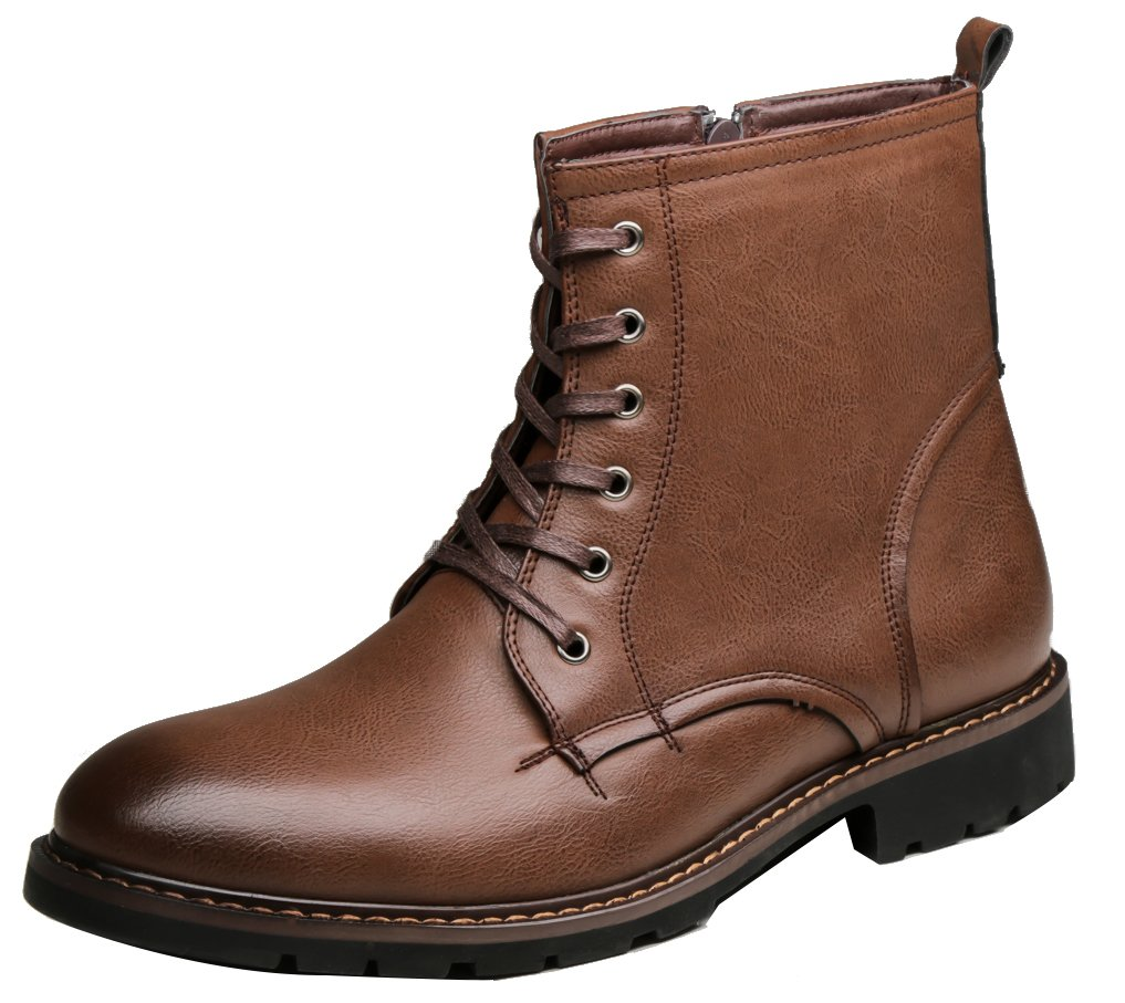 SHENBO Men's Modern Classic Chukka Boots (11, brown1) by SHENBO