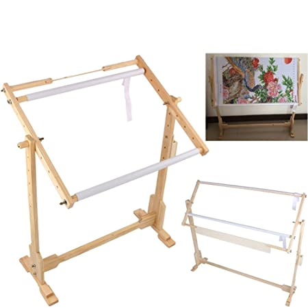 Embroidery Frame, Adjustable Cross Stitch Floor Stand ZJchao Wooden ...