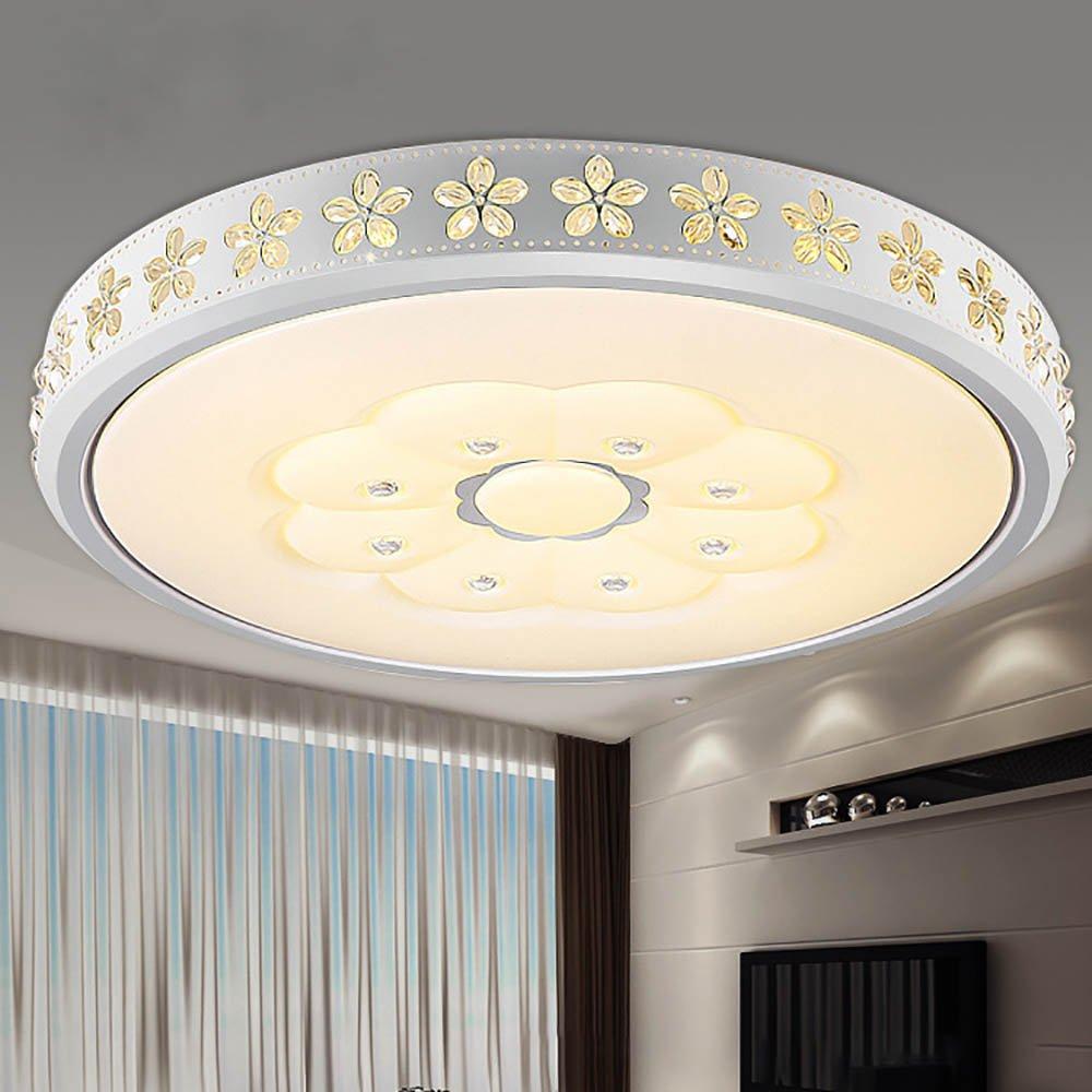 30W Führte Deckenlicht Ringsum Wohnzimmerlicht Augenschutz Acrylschatten Ist Anwendbar Schlafzimmer-Studie Restaurant-Beleuchtung Dreifarben Segmentiertes Licht