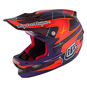 Troy Lee D3 carbono MIPS – Casco, casco, Unisex, color Render Purple,