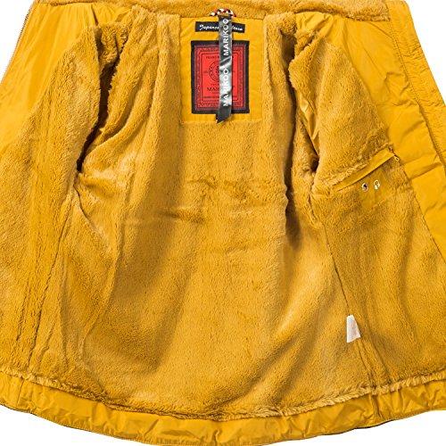 Invierno de Colores Guateada Amarillo 10 para Mujer Chaqueta XXL XS Marikoo Amber wPEftt