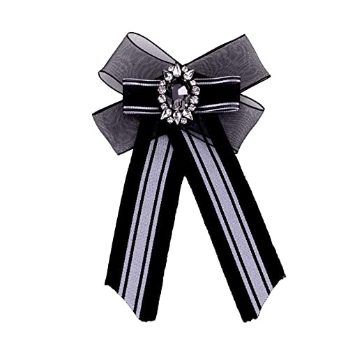 Mujeres Moda Broches, Mujeres Simple Crystal Rhinestone Bowknot ...