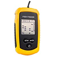 Venterior VT-FF001 Portable Fish Finder, Fishfinder with Wired Sonar Sensor Transducer and LCD Display