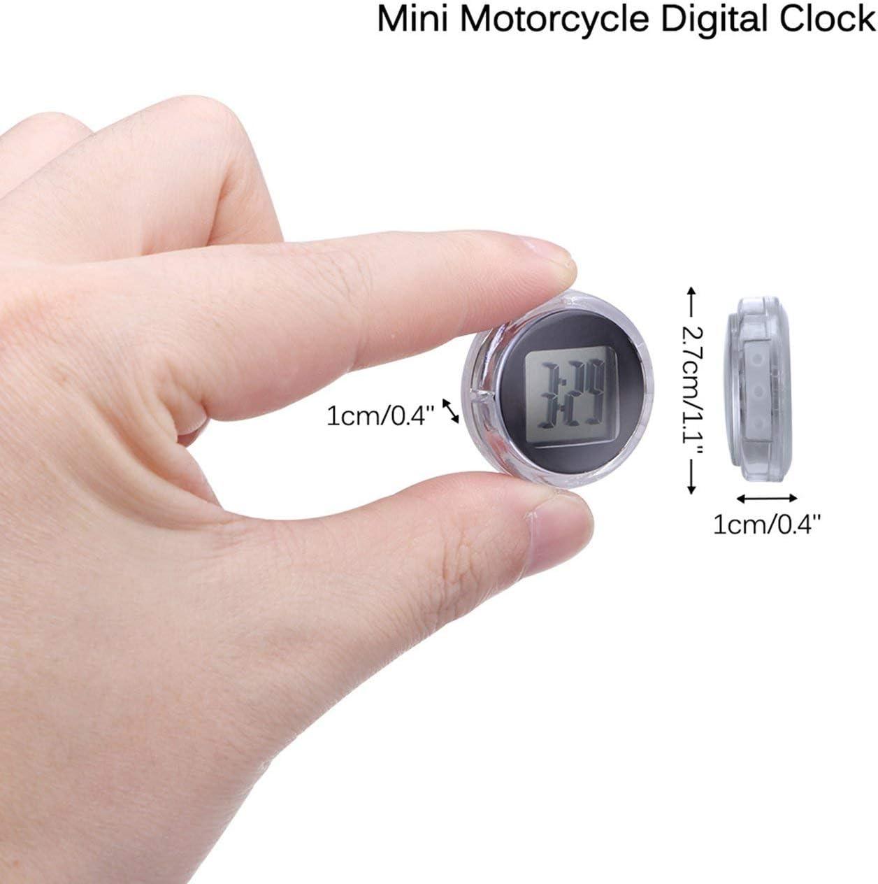 Noir Horloges de moto Montre /étanche Stick-On Moto Mont Montre Moto Horloge num/érique Costume pour toutes les voitures Moto