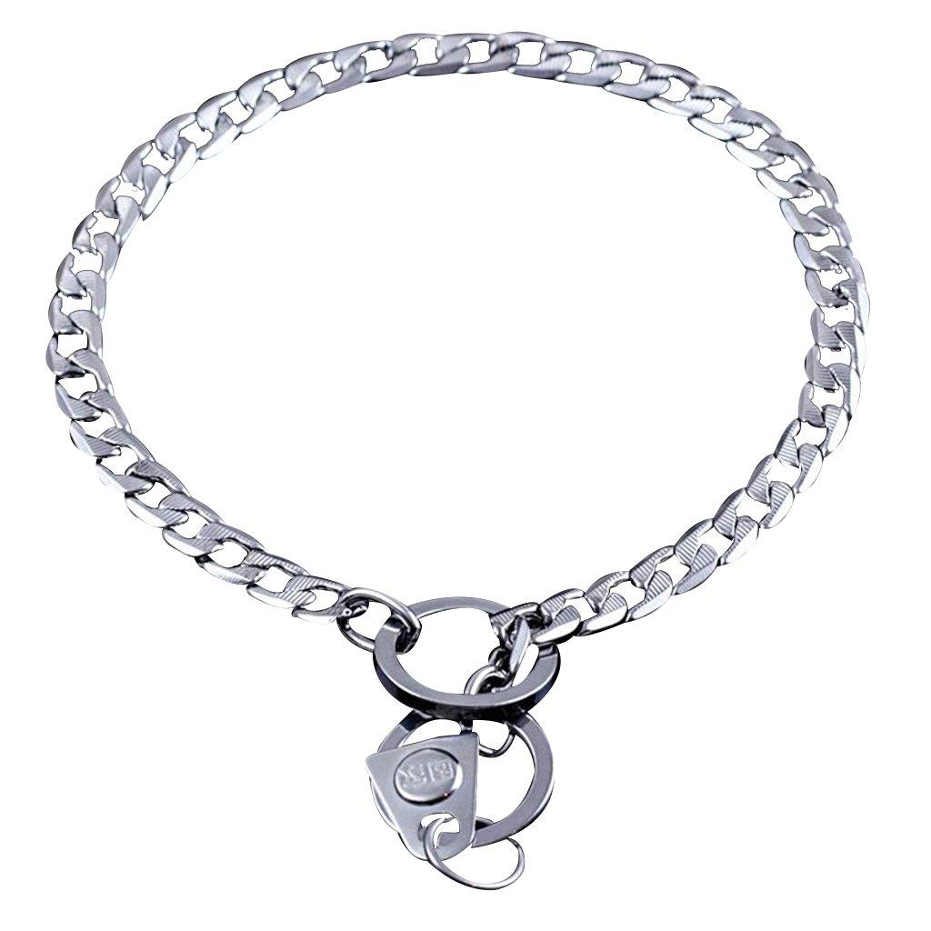 GWM Leashes Pet Collar P Chain Dog Chain Pet Supplies Strong Chain Snake Metal Collar Dog Training Collars