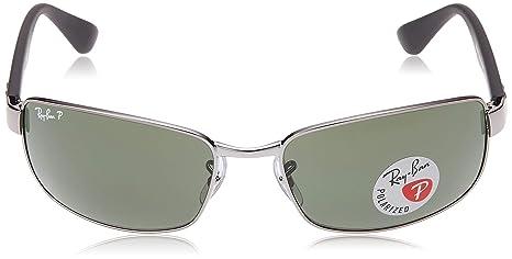 Ray-Ban Mens Rb3478 Polarized Rectangular Sunglasses, Gunmetal, 60mm