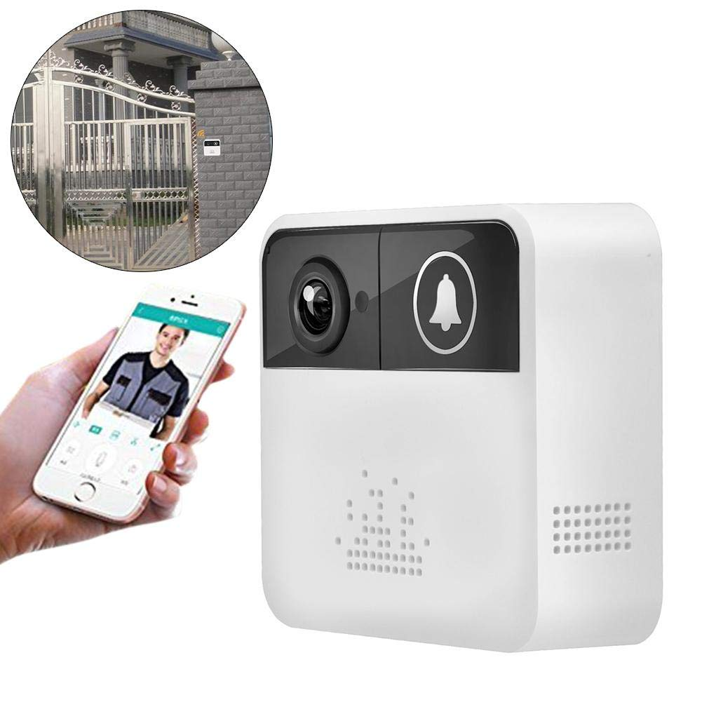 Wireless Low Power Consumption HD WiFi Intelligent Door Bell with Live View and Two Way Audio & SD Card Local Recording Mobile Remote Control Without Battery and Memory Card