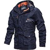 Sunward Men's Waterproof Jacket Casual Autumn Winter Long Sleeve Hooded Zipper