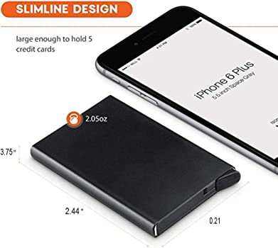 Amazon.com: Cartera de aluminio de acero inoxidable para ...