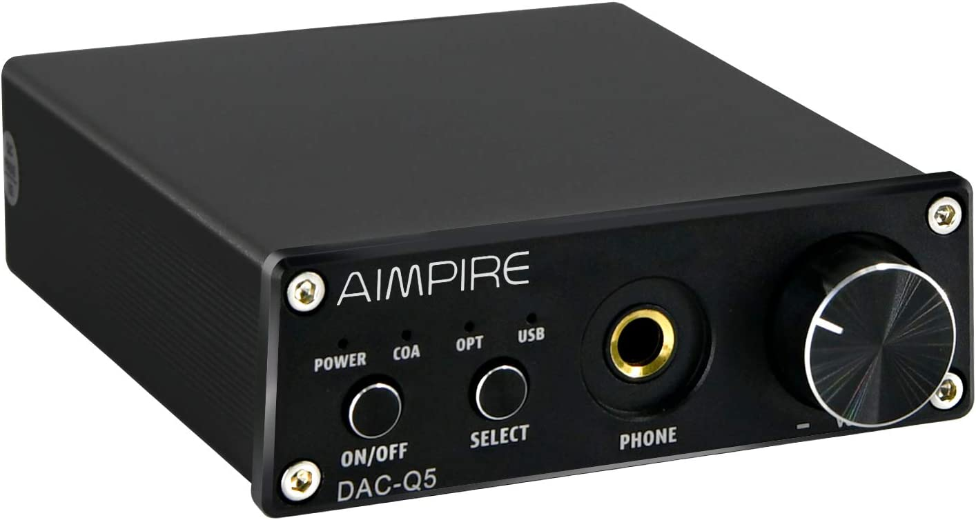 Audio DAC Preamplifier Converter Decoder - Mini Headphone Amplifier, Digital-to-Analog Adapter HiFi Decoding Stereo Preamp, 24Bit/192KHz Optical/ Coaxial /USB to RCA AUX for Home Speakers