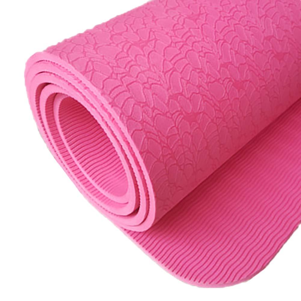 LHFFCt Yogamatte Rutschfest DüNn Yogistar, Gymnastik Matten Faltbar, ÜBungsmatten, weiche, Gymnastikmatte, umweltfreundlich, Pilates, Meditationsmatte