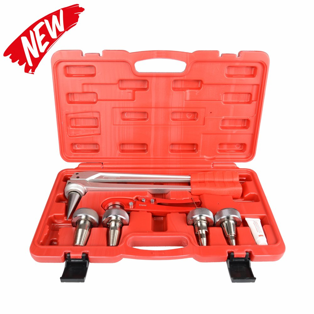 IWISS PEX Pipe Expansion Tool Kit with 3/8'', 1/2'',3/4'',1'' Expander Heads and PEX Pipe Cutter for Propex Expansion suit Propex Wirsbo Uponor Meets ASTM F1960 Standard by IWISS