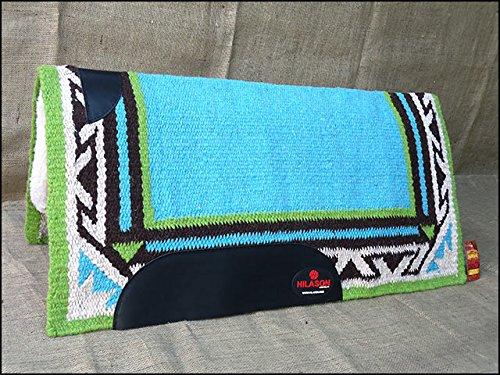 f222-hilason-western-new-zealand-wool-felt-saddle-blanket-pad-turquoise-green