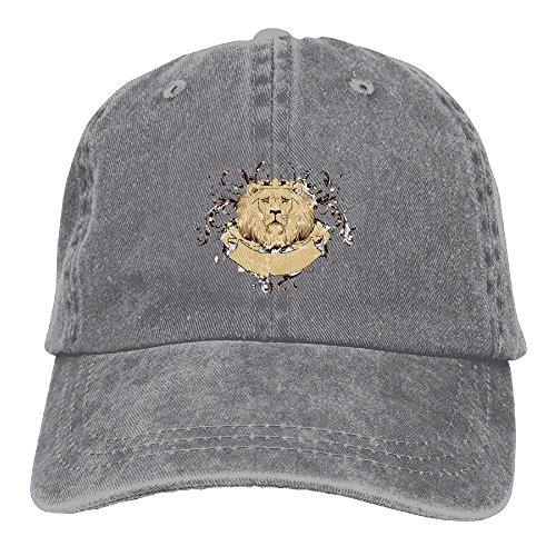 Shenigon The Dazzling Lion Premium Cowboy Baseball Caps Dad Hats Ash