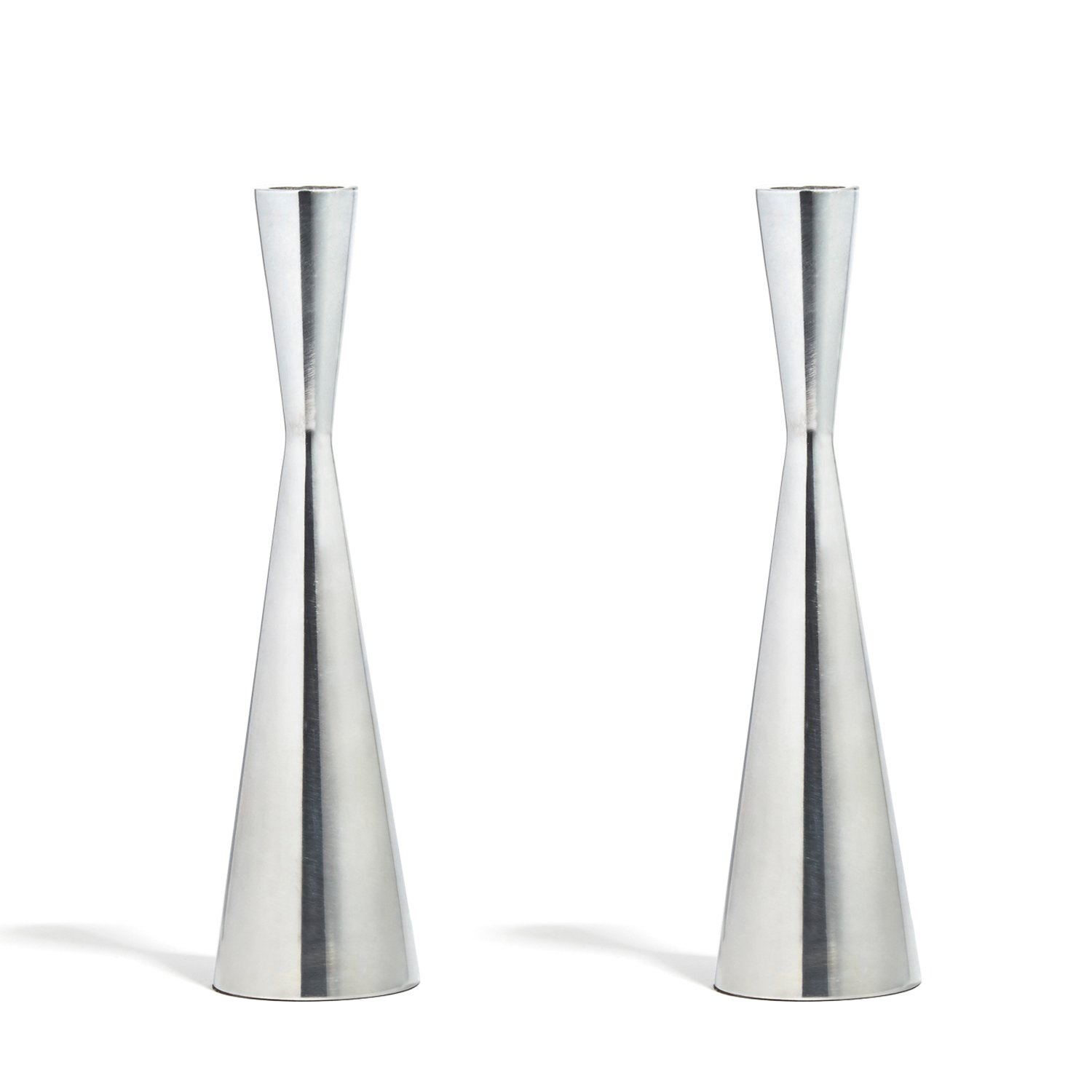 7.5 Inches Metal Fits All Standard Size Candlesticks Hourglass Shape LampLust 2 Brass Finished Taper Candle Holders