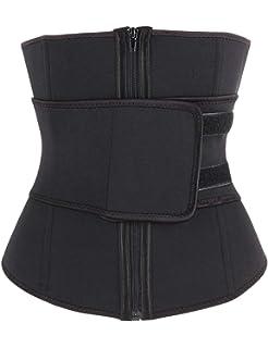 7a84d02ff3a FeelinGirl Women s Waist Cincher Neoprene with Zipper Waist Trimmer Belt  Hot Sweat Corset