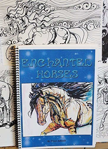 Horse Coloring Book Adult Enchanted Horses Libro Para Colorear
