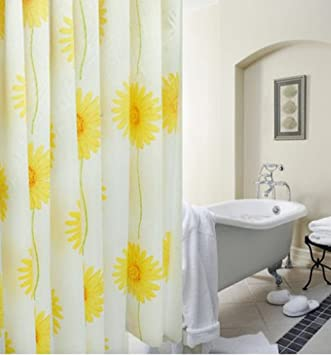 Superbe HIGOGOGO The New Sun Flower Thick Shower Curtain Polyester Bath Curtain  Fabric Waterproof Mildew Free Shower