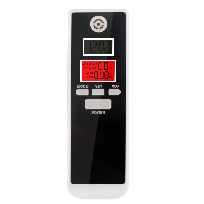 Alcoholí metro Digital Profesional Probador Portá til de Alcohol Analizador de Respiració n con Pantalla LCD de Alta Precisió n Fá cil Medició n Fá cil de Llevar alcoholimetro de bolsillo bedee