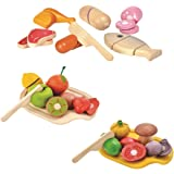 Amazon Basics 21-Piece Interactive Kids Toy Food Set, Assorted Fruits, Vegetables and Meats - 18 Months+