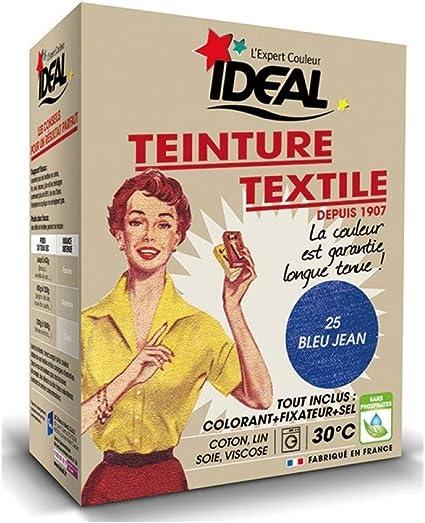 ac marca Tinte Textil máquina Azul Jean 350 g fijación + Sal, Ideal