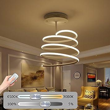 Lampe Acrylique Métal Yzhb Moderne Design Creative Spiral Plafond 34A5LcRjq