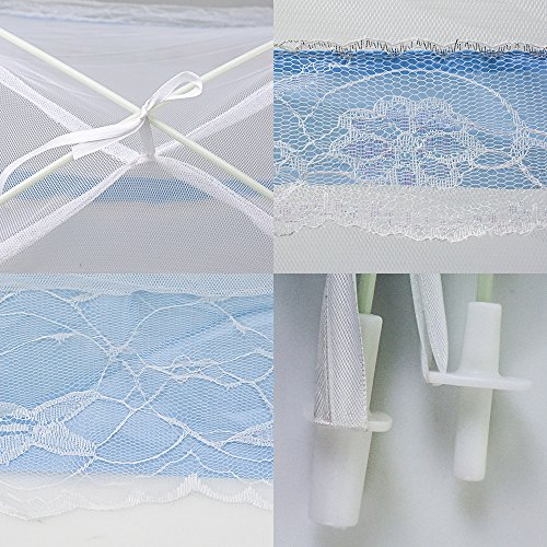 Blue Topwon Pop-up Baby Mosquito Net//Automatic Insect Tent//Portable Nursery Netting