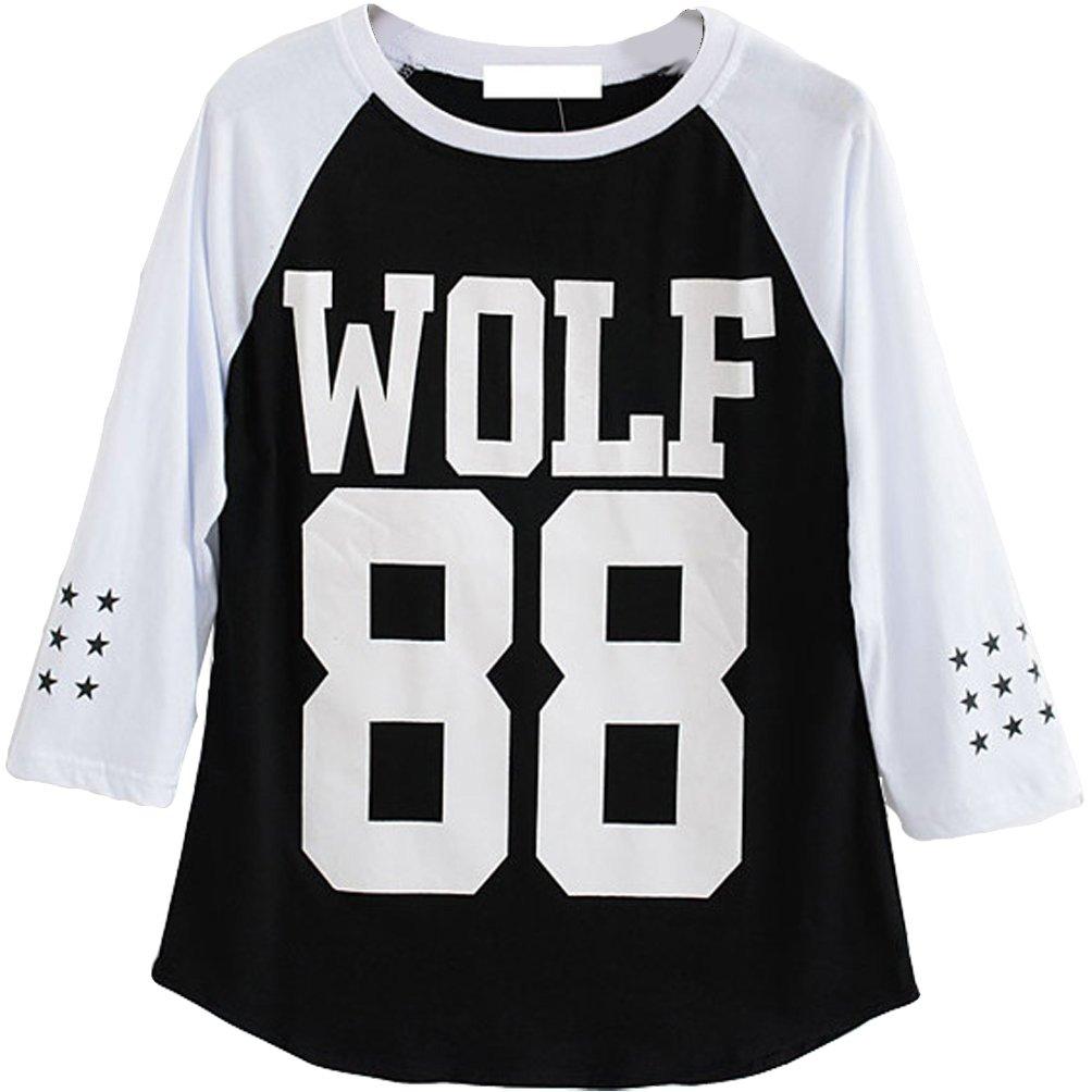 Kpop EXO Wolf 88 Raglan T-Shirt Sehun CHEN LUHAN Tee Shirt ...
