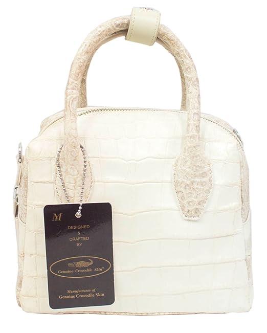 1e8b086866b6 Authentic M Crocodile Skin Womens Belly Clutch Bag Purse Tote W ...
